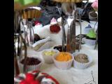 Paysage en gâteaux miniatures