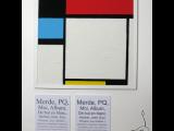 Mondrian en papier toilette