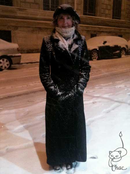 Chat-Flan sous la neige